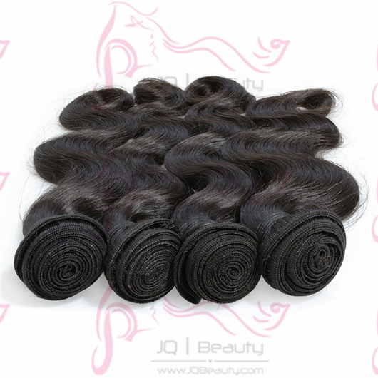 3pcs/lot Brazilian Virgin Hair Body Wave JQ Beauty Human Hair Extensions 100g 18 Inch #1b Color Hair Weaves