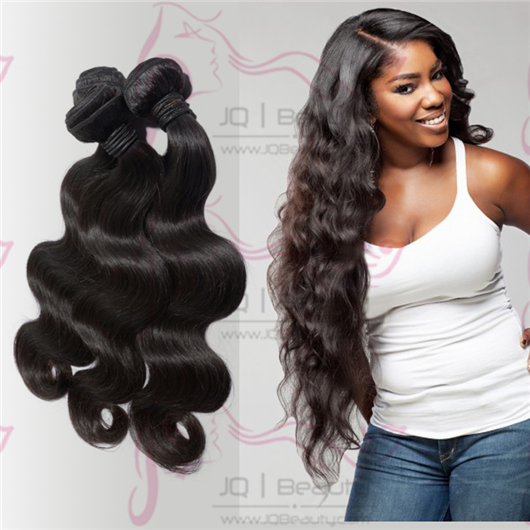 2014 Hot Selling Malaysia Virgin Hair 100g Body Wave Human Hair Weft Off Black Color Double Drown Hair Extensions Free Shipping