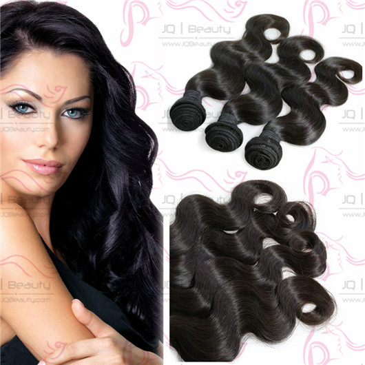 Top Selling JQ Beauty Queen Hair Products Russia Virgin Hair Extension 100g #1b Color Human Hair Weaves