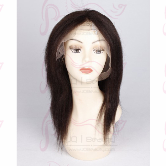 Hotselling High Yaki Straight Full Lace Wig Brazilian Virgin Hair with Baby Hair for Black Women