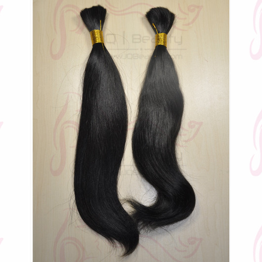 100% Natural Color Brazilian Virgin Hair Bulk Natural Straight Hair 100g/pcs 12''-30'' on Stock for Wholesale Rosa Hair Products