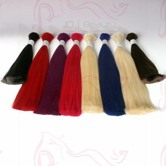 Wholeslae Peruvian Virgin Hair 12''-30'' available Colorful Bulk Hair for Braiding Silk Straight Hair Extensions