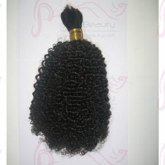 Malaysia Virgin Hair Bulk for Braiding Kinky Curl Human Hair Extensions 100g 8''-30'' Available #1b Color for Black Women