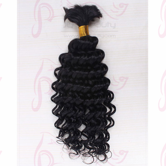India Virgin Hair Deep Wave Bulk Hair Extensions for Braiding Queen Hair Products 100g/pcs with UPS Shipping