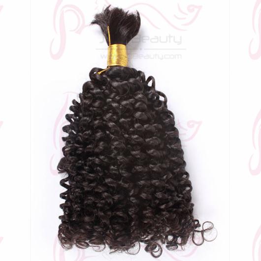 Brazilian Jerry Curl Bulk Hair for Braiding 100g/pcs Mongolian Virgin Hair Bulk New Star JQ Beauty Hair for Black Women