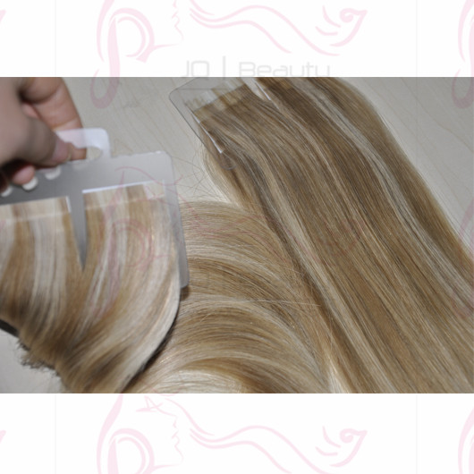 Brazilian Virgin Hair Piano Color Tape Hair Extensions 100g 40pcs/set 1cmx4cm Tape Silk Straight 22'' Hair Extensions
