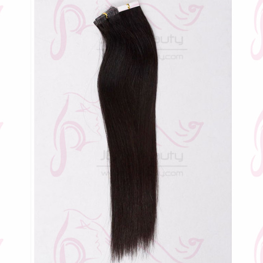 #1b Color India Virgin Hair 20 Inch Silk Straight Human Hair Tape Hair Extensions 6a Double Drown Hair For Salon and Women