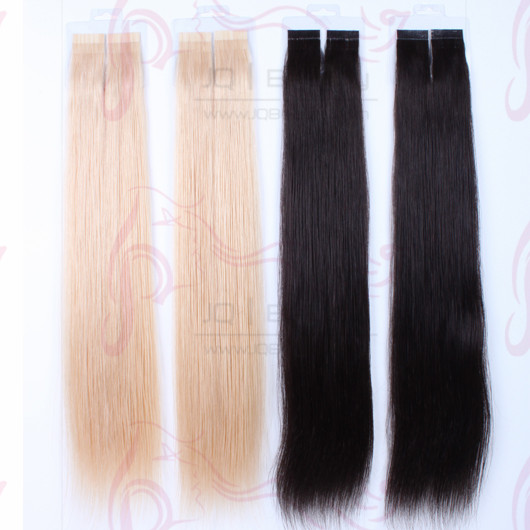Wholesale Malaysia Virgin Hair 100g 22 Inch Silk Straight Human Hair Tape Hair Extensions Double Drown No Tangle Hair for Women