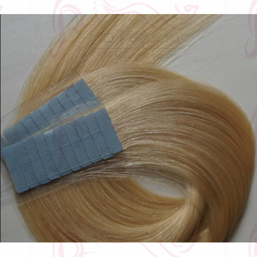 Blond Color #613 Single Drown 20 Inches Super Tape Hair Extensions 40pcs/set Brazilian Virgin Hair Silk Straight Human Hair Extensions
