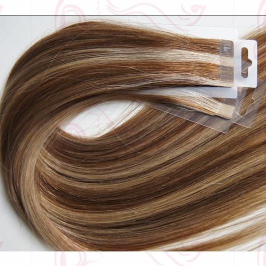 Piano Color Super Tape Hair Extensions Straight Hair Russia Vrigin Hair 22 Inch Human Hair Extensions