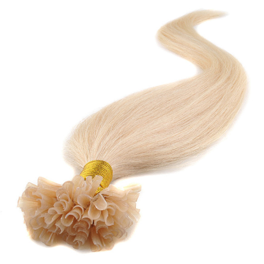 Peruvian Virgin Hair 613# lightest blonde/Bleach blonde 18-22 Inches Keratin Pre Bonded Nail U Tip Glue 100% Virgin Human Hair Extensions 100pcs