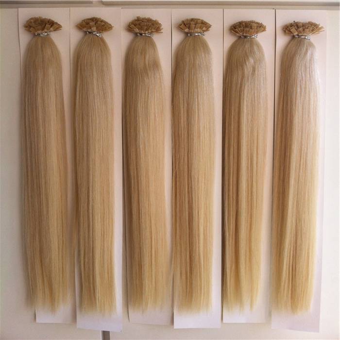 Colour 27# strawberry blonde/honey blonde Remy Human Hair Flat Tip In Extensions 18'' 20'' 22'' 6A Gread Pre Bonded India Virgin Hair Extensions