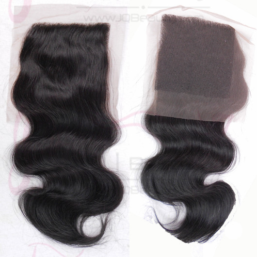 Mongolian Virgin Hair Body Wave Lace Closure 4x4 Swiss Lace Double Knots Human Hair Top Closure