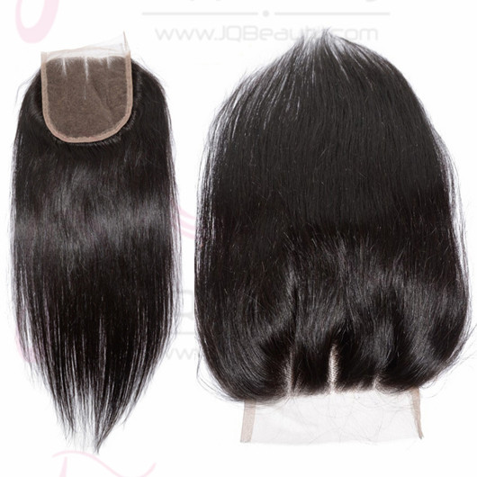 Wholesale Price Brazilian Virgin Hair Top Lace Closure Silky Straight Hair 4x4 Three Part Lace Closure