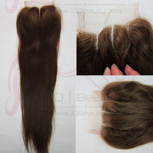 Peruvian Virgin Hair Silky Straight 6A Hair Swiss Lace Top Closure 4x4 Size Double Knots Three Part Lace Closures