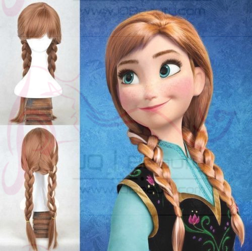 Cartoon Movie Frozen Anna Brown Braid 20